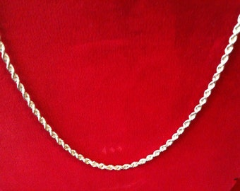 "14 K Yellow Gold Rope Chain 18"" Long. 2.3 gm."