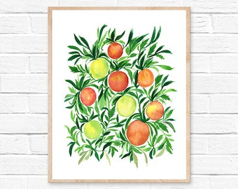 tomato watercolor kitchen decor kitchen art tomato painting watercolor tomato watercolor painting kitchen wall art tomatoes tomato print art