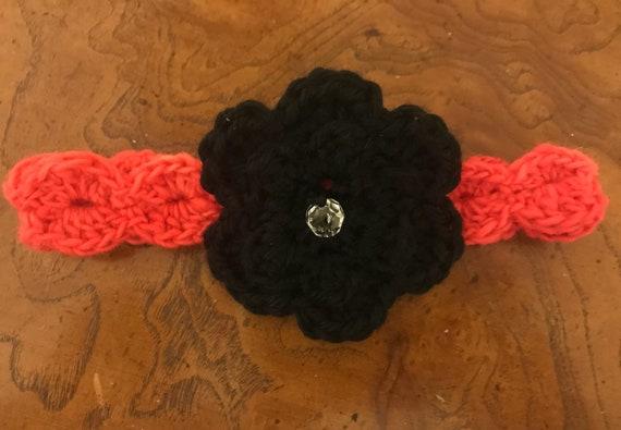 Baby-Crochet Blumenstirnband / häkeln Babystirnband / Baby