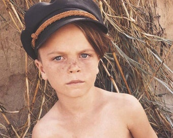 Leather Fiddler Hat - Black - Adults and Kids
