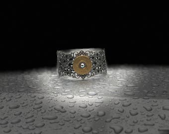 Antique 12 gauge bracelet cuff