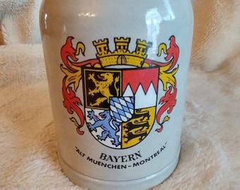 VINTAGE mug has beer in Western Germany, Mid Century German Beer Mug, Beer Mug VTG