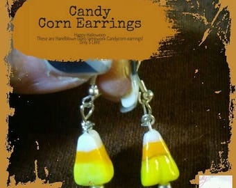 Candy Corn Earrings #Halloween