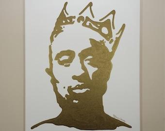 Tupac Painting (16x20) Hip Hop Art, Pop Art, Tupac Art, Tupak Shakur, Biggie