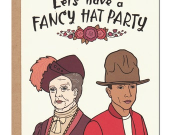 Fancy Hat Party Card