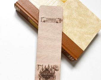 Harry Potter bookmark wooden - the Marauder's map - original bookmark - unique bookmark - wood bookmark