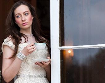 "ADELINE"" Crystal Bridal Cuff/Bracelet"