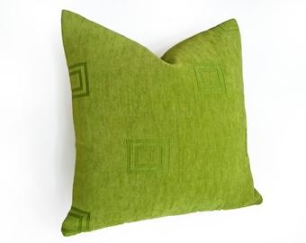 Green Pillows, Sofa Pillows, Cushion Covers, Green Decorative Pillows, Lumbar Pillow, Pillow Case, Texture, 14x20, 18x18, Spring Home Decor