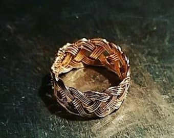 Hand Weaved Copper Ring