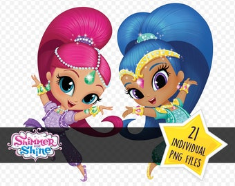 Shimmer And Shine - Image Clipart / Instant Digital Download / PNG Files