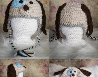 Winter Hat, Newborn hat, Hat for babies, Baby gift, Baby shower gift, Crochet hat, New baby gift, Puppy dog hat for babies, Valentine gift,