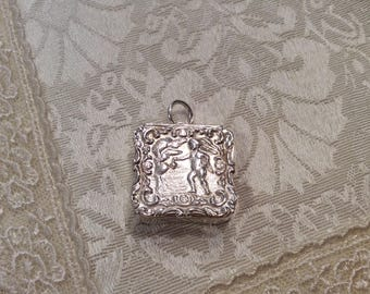 Sterling Silver CREMATION ASH Container Locket Memorial Human Pet Ashes Loved One Small Personal Case Pendant