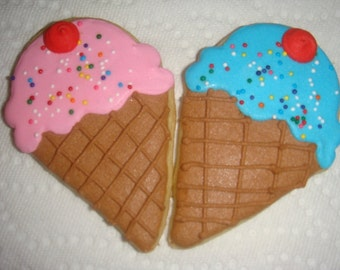 Ice Cream Cones Sugar Cookies