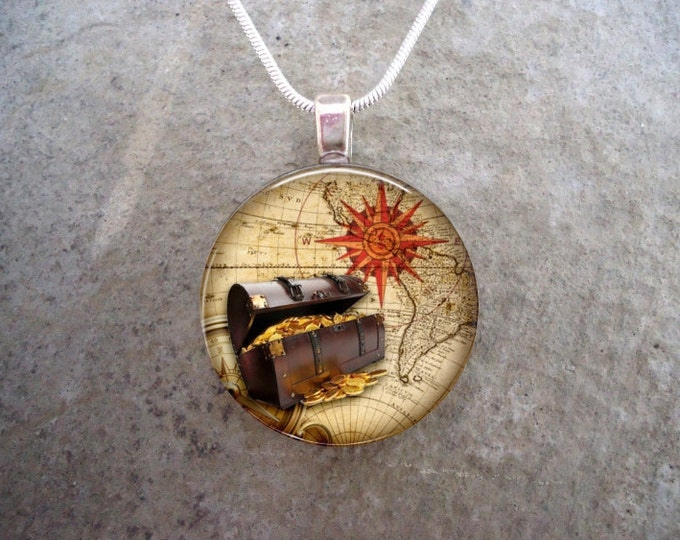 Pirate 1 - Cosplay Jewelry - Vintage Antique Style - Glass Pendant Necklace