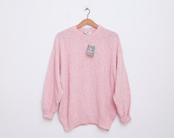 oversized sweater 90s deadstock vintage pink new old stock