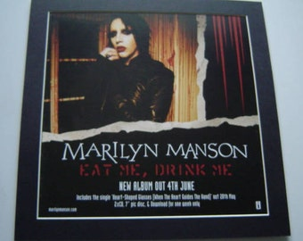 Marilyn Manson Eat Me Drink Me    Original  Poster in A Custom Made Mount Ready To Frame