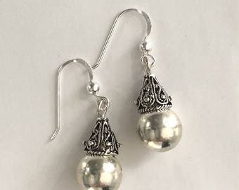 Teardrop Earrings Balinese Sterling Silver Bali