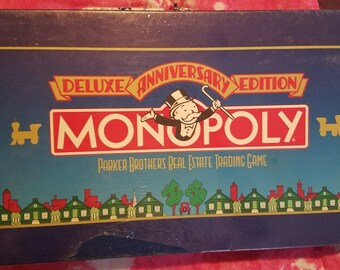 Monopoly 1984 Anniversary Edition SEALED! Special Anniversary Token