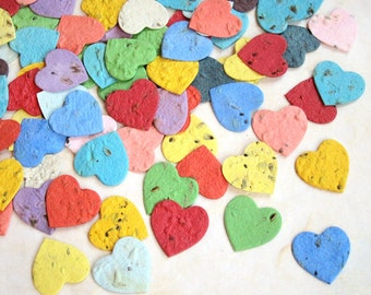 200+ Herb Seed Bomb Hearts Plantable Seed Paper Confetti Hearts - Wedding Favors - Basil Dill Chives Parsley Thyme Oregano