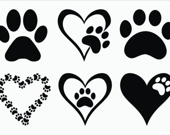 Paw Print SVG / EPS / Png 300ppi / Dxf / Paw Print Vector / Paw Print Clipart / Dog SVG / Animal svg / svg Files for Cricut / Silhouette