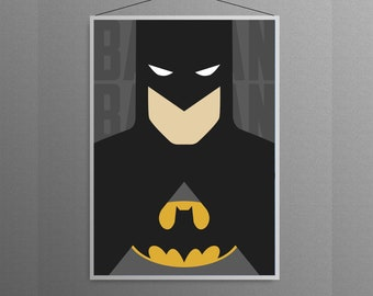 Batman Superhero Minimal Artwork   Home Decor Poster