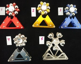 It's the ferris wheel that you spin On or off the stand that comes with it, this spinner is an eye catcher, a smooth and fast spinner, & fun