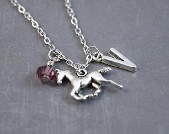 Silver Horse Necklace - Horse Jewelry - Pony Necklace - Animal Necklace - Horse Pendant - Personalized Necklace - Pony Pendant