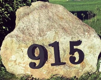 """Custom 12"""" Metal House Numbers in Finish of Your Choice"""