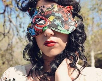 Sleep Mask, Kitty Sleep Mask, Super Hero Sleep Mask, Eye Mask, Eye Pillow