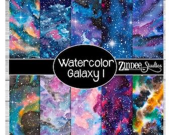 Watercolor galaxy 1 Pattern Vinyl HEAT TRANSFER or ADHESIVE, htv or permanent adhesive vinyl printed vinyl