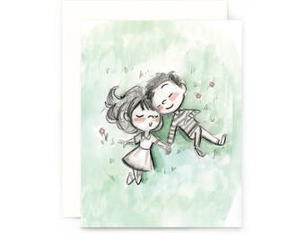 Sleepy Picnic Greeting Card