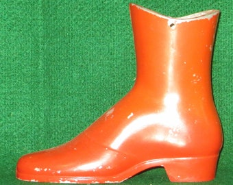 Vintage aluminum red boot