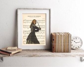 Elizabeth Swann Pirates of the Caribbean Sheet Music Art Print