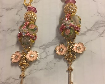 Big Rose Petal Earrings