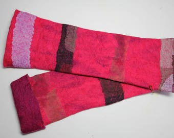 Red Striped Wrist Warmers