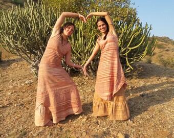 Khadi long Dress, summer dress, long Khadi Dress,handwoven Cotton, natural dress, anclelong Dress, Hippie Dress, Festival Dress, pure cotton