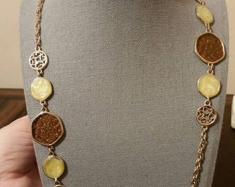 Sarah Coventry gold toned necklace and earrings set