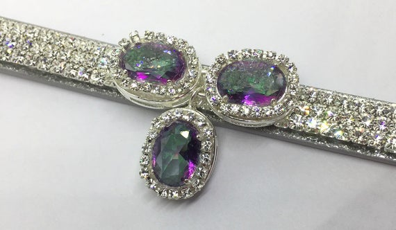 Cutie Pie Pet Collars ®~Mystic Diamond Princess~ Pink Aqua Purple Crystal Rhinestone Dog Pet OR Cat Safety Leather Collar Optional Leash USA