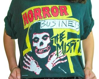 Vintage The Misfits Shirt 90s Shirt 90s Tee HORROR BUSINESS Danzig Black Flag The Ramones The Clash Horror Punk Rock Boho Rocker Punk Tee