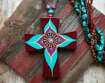 BoHo Paper Mache Cross