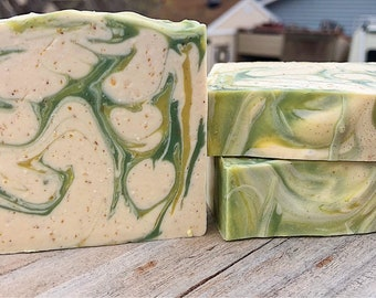 Citrus Olive-Handmade Artisan Goats Milk Soap-Cold Process Soap