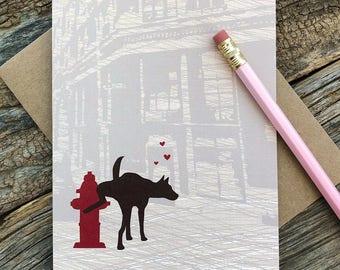 lustige Jahrestags-Karte / Hund, du bist mein