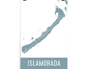 Islamorada Map, Islamorada Art, Islamorada Print, Islamorada Florida Poster, Islamorada Wall Art, Map of Islamorada FL, Art, Gift, Poster