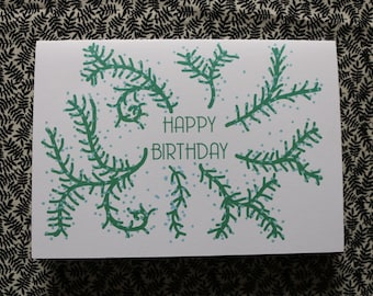 Growing vines birthday card
