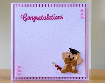 Exam cards etsy graduation card exam congratulations card dog graduation card cute graduation card graduates m4hsunfo