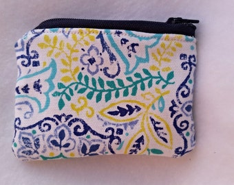 Mandala inspired coin purse,Fabric coin purse, cute coin purse