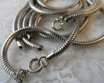 """Stainless steel serpentine chain lengths,10""""length,4pcs-CHN15"""