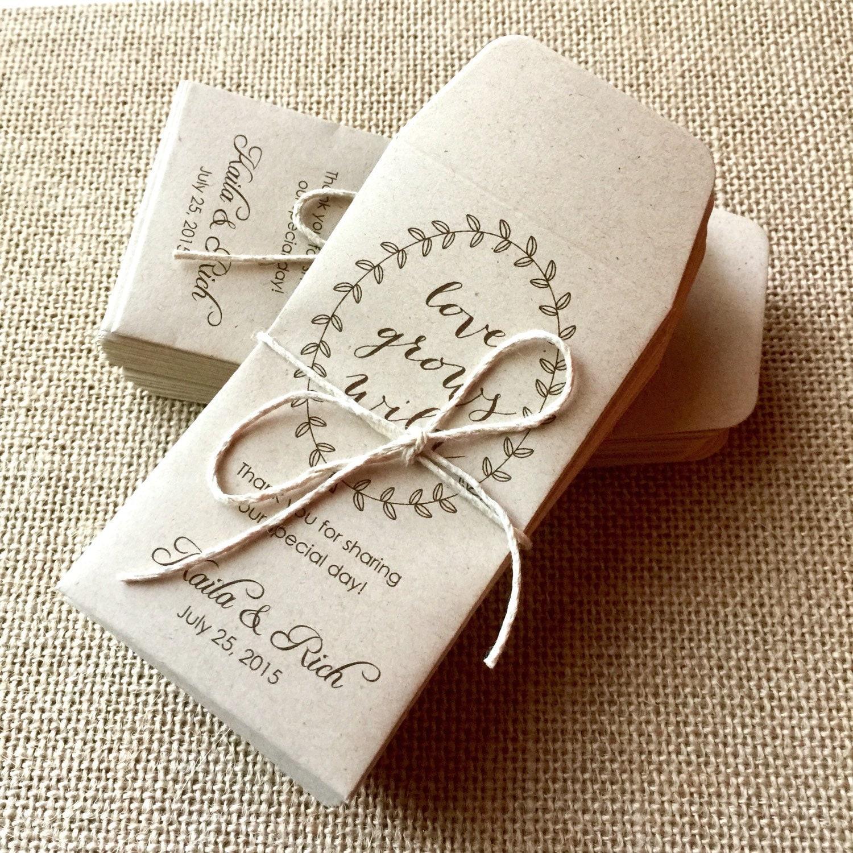 DIY Custom Seed Packet Wedding Favors, Custom Envelope, Kraft ...