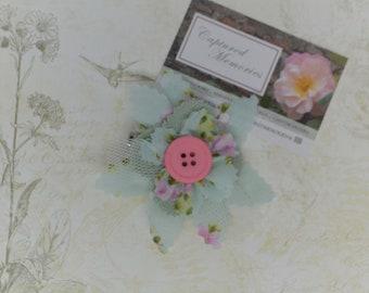 Garden Flower Brooch - Easy to Wear