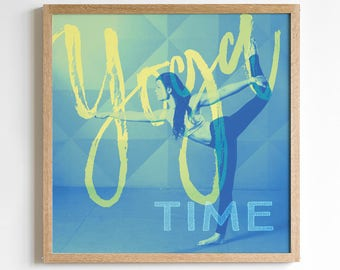 Yoga Print Art - Yoga Studio Decor - Yoga Pose - Yoga Studio Wall Art - Yoga Bedroom Decor - Meditation Artwork - Yoga Poster Print